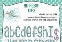 Alphabet Dies / Projects created with Jaded Blossom Alphabet Dies, Stitched Alphabet Dies