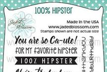 100% Hipster / Hipster themed stamps, Hipster Cards, Hipster favors