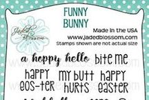 Funny Bunny / Projects Created with Funny Bunny Stamps, Easter Stamps, Spring Stamps