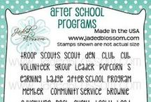 After School Programs / Projects created with After School Program stamps