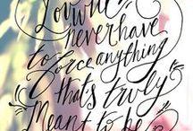 Inspirational Words / Inspiration & Advice