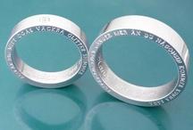 Personliga smycken - Personalized jewelry / Handmade jewelry made to order. Handgjorda, personliga smycken. Namnsmycken, Förlovningsringar, Vigselringar, Fotosmycken. Silversmycken.  Engagementrings, Weddingrings, personalized jewellery.