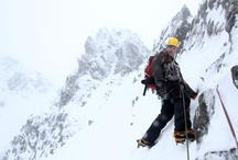 Ice Climbing and Alpinism / Ice climbing, as the term indicates, is the activity of ascending inclined ice formations while Alpinism refers to a particular style of mountain climbing that involves a mixture of snow climbing, ice climbing, rock climbing, and glacier travel, where climbers generally single carry their loads between camps, in a single push for the summit.
