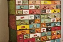 Recycled File Cabinets / by Roxanne Peterson
