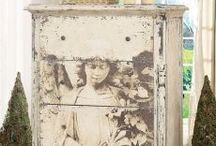 Recycle Stencils, Transfers, Modge Podge / furniture  / by Roxanne Peterson