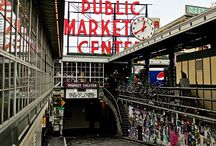 City: Seattle / Space Needle | Pike's Place | Mt Rainier / by Kelly Kilger