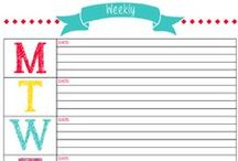 printables / Fun and free printables to get organized / by ErinBrans.com