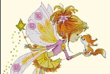 Cross Stitch: Fairies / Charts of fairies and angels