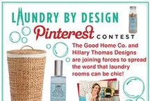 Laundry By Design / Transform your laundry room experience from drab to fab. Join us June 26-July 10th for a Pinterest contest with a grand prize that includes a laundry room makeover from interior design star Hillary Thomas and laundry goodies from The Good Home Co. - a prize package valued at over $3,000!