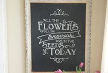 Chalk it up to <3 / Chalkboards, chalk, we just love this design touch.