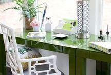 Desk Decor / Home office, desk, decor, interior design ideas