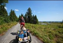 La Véloroute des Bleuets / La Véroloute des Bleuets c'est 256 km de circuit cyclable asphalté qui vous font découvrir les paysages splendides du Saguenay-Lac-Saint-Jean.