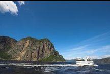 Croisières du Fjord / Les navires de croisières et les navettes maritimes de Croisières du Fjord vous feront voguer sur les 100 km du Fjord du Saguenay où les paysages sont dignes de cartes postales.