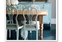 Farmhouse table ideas / by Natalya Hoak