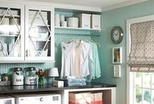 Laundry Room Ideas / I dream of DIY design and organization for my small laundry room with top loaders. My dream is to give that laundry room a makeover. The board includes ideas for decor, storage, shelves, and cabinets. And, for someday, a space for a mudroom also. / by Craving Some Creativity