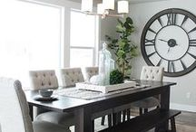 Dining Room Ideas / So many beautiful tablescapes! From table ideas to decor and lighting, these dining room ideas are crazy gorgeous. We have both a casual and a formal dining space, but they are both small for our family and entertaining. Ah, makeover someday. / by Craving Some Creativity