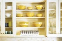 Yellow and White Kitchens