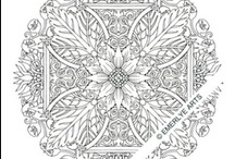 My Adult Coloring Pages / I have created several sets of complex coloring pages for adults.  Currently there are three series:  Mandalas (5 sets), Borders (2 sets) and Florals (4 sets) as well as an adult coloring journal. Physical sets are sold at my Etsy shop at EmerlyeArts.Etsy.com
