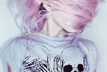 P A S T E L - H A I R / Pastel colored hair is a daring inspiration to let go of natural colors and go bold like the rainbow.