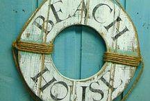 Estilo Beach Cottage / Coastal Decor. Decoración inspirada en lugares de la costa, con toques marinos y con un ambiente y estilo muy playeros.
