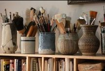Art Space Organizing / Different ways you can organize your art supplies and tools.