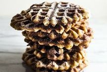 Waffles! / Everyday is a great excuse to get those waffle makers out and start whipping up a batch or two.  We have created a waffle board which is full of savory and sweet waffle ideas!  Enjoy....