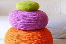 Powerful Poufs / Every home needs a pouf to rest your feet on! Here are some fab ones.....