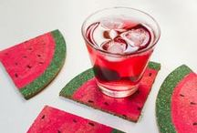 Funky coasters / Drink your tea and coffee in style with these funky coasters!