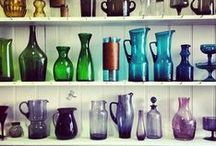 Coloured glassware / Introduce bold and colourful glassware into your home and liven up the atmosphere!