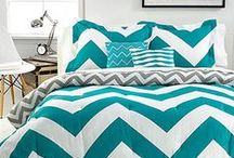 Graphic chevrons / Make waves in your home with the latest trend in bold chevron prints to add maximum impact!