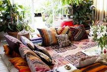 Bohemian home style / Relax in total bliss with a Bohemian interior style in your home....