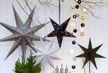 Paper star decorations / Decorate your home with some paper stars, perfect for filling the empty void after Christmas and New Year!