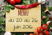 Menus de Saison / Des idées de menus pour toute l'année pour cuisiner de saison, bon et économique!