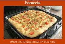 Focaccia / Focaccia from scratch in Italy : book a cooking class at Mama Isa's Cooking Classes near Venice Italy and lear the art of focaccia baking.