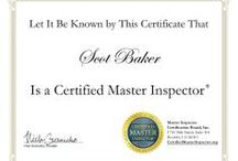 Scot Baker Home Inspector InterNACHI Certifications / Continuing education certificates required to be an ethical and knowledgeable home inspector issued by the International Association of Certified Home Inspectors to Scot Baker the Owner of Baker Inspection Group.
