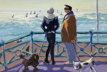 Lucy Pratt / British Artist whose paintings convey the vitality and spirit of a joyous moment in space and time. To buy some of her greeting cards please take a look at our website. / by Art Cove Greeting Cards and Blog