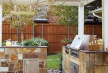 Home - Outdoor Kitchen & Dining / Outdoor Structures with Kitchen Counters for Cooking and Serving / by Beverly Austin