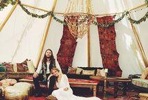 The Hippy Bride / Mood board