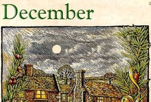 Yule - Christmas - December / The origin of the word Yule, has several suggested origins from the Old English word, geõla, the Old Norse word jõl, a pagan festival celebrated at the winter solstice, or the Anglo-Saxon word for the festival of the Winter Solstice, 'Iul' meaning 'wheel'. In old almanacs Yule was represented by the symbol of a wheel, conveying the idea of the year turn.