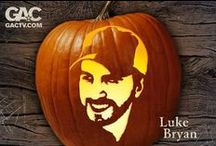 Pumpkin-Carving Templates / With these exclusive GAC pumpkin-carving templates, you can have Tim McGraw, Keith Urban, Carrie Underwood, Taylor Swift and more sitting on your front porch Halloween night. There are 20 artist templates to choose from!