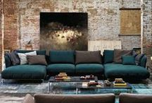 Rustic Modern / Texture, warmth, clean & simple interior spaces.