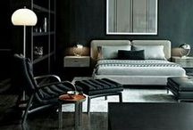 Black And Gray Bedrooms / Dark and sensual spaces.