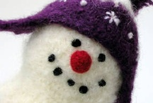 WoOLly SnOWmAn  2 0 1 3 / 2013 is the 10 year anniversary of the Woolly Snowman pattern.  / by Marie Mayhew Designs