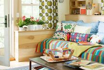 Better Homes and Gardens Stylemaker / My style is bold mixed with calming neutral, patterns upon patterns, flea market plus mid-century modern plus Scandinavian simplicity.  It's typography and word art, bookshelves, and open floor plans.  Most of all, it is welcoming, kid-friendly, and fun.