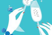Cheers! / Bar carts, libations, and cheer  / by Kelly Korstad Broder
