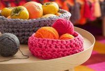 Cesta, cachepô, case, box / Cestos e depósitos de crochê e outros artesanatos
