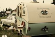 Caravan Cool / Owning a caravan is a childhood dream, like having a bed in a nook in the wall, caravans speak about all that matters to me - living simply, being unattached to a place, being ready to go (anywhere), being self-sufficient...