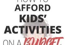 Saving Money on Kids / Information on how to save money on the expenses related to children.  childcare | clothing | gifts | school | health