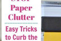 Organize and Declutter / Organize and declutter your home and finances.  declutter | organize | simplify | organization | straighten up