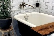AT HOME - BATHROOMS / This is the room for the best time of the day - #Relaxing #Bathrooms #Bathing #Bathtime ♥♥♥The Daily Basics.com ♥♥♥